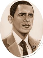 Barack Obama by CezLeo