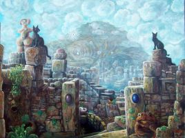 city in the clouds by rodulfo