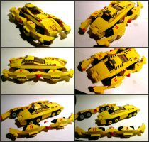 LEGO Big Yella Race Car by Frohickey