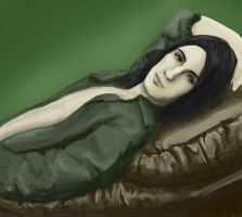 Snape on the sofa - vimessy by snapefanclub