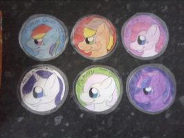 My Little Pony Freindship Is Magic coaster set by Lockian