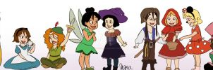 Disney Princesses Babies Halloween by Ribon95