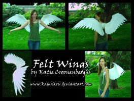 Felt Wings .:. Giant all white by Kamakru