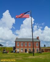Fort Clinch American Flag and Clouds May 28, 2016 by ENT2PRI9SE