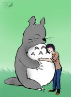Totoro and Michelle by NuclearJackal