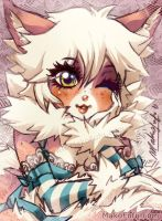 101 KeyWord Commish: Bambi + Fluffy by Mako-Fufu