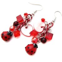Ladybird Charm Earrings by fairy-cakes