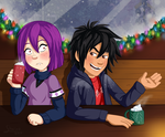 ::-So Aunt Cass is Hanging Mistletoe..-:: by Starimo