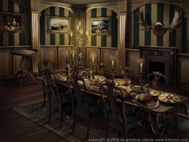 Sleepy Hollow. Dining room by kidy-kat