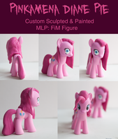 MLP: FiM Custom Sculpt Pinkamena: Crazy Pinkie by alltheApples