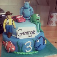 Disney Pixar cake by AdaBerry