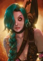 Jinx, the loose cannon. By AdrianWolve by AdrianWolve