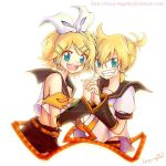 Vocaloid 2-Kagamine Twins by Crazy-megame