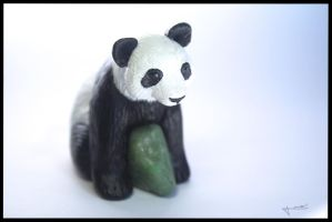 :.OOAK Panda figurine.: by XPantherArtX