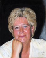 my mother in pastel by pat71art