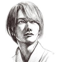 Kenshin-sketch by amie689