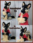 Gshep partial fursuit by PlushiePaws