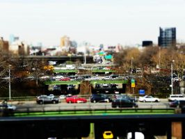 NY bridge Tilt-Shift by WETkitchen