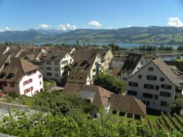 The view on Alps by Agatje