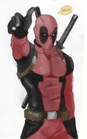 Deadpool sketch by Hawk-619