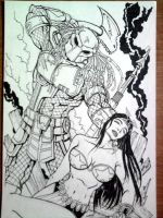 PREDATOR VS. DARNA by sketchrms
