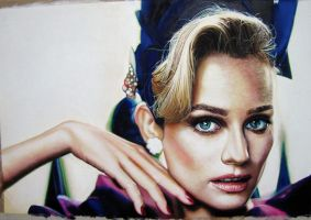 Diane Kruger watercolor portraits by kimyunho
