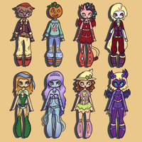 Adoptables: Halloween Set 4/8 OPEN by claire-face
