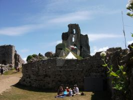 Corfe Castle by HeatherPerrin