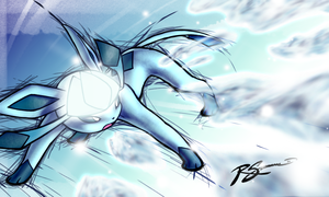 Glaceon's Ice Shard by JA-punkster