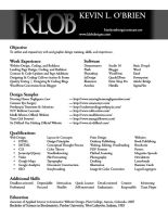 KLOB Resume by TeamGirl-Differel