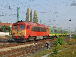 M41 2156 arriving to Gyor with fast train by morpheus880223