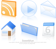 Sweet Blue Icons by g00glen00b
