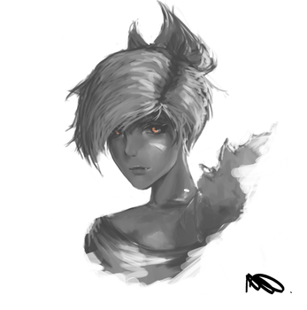 Riven Face - League of Legends by Wroppi