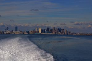 Boston Skyline by Tyyourshoes