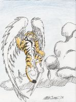 winged tiger by NateBlue