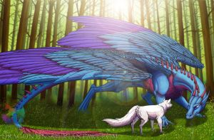 The wolf and the dragon by Dragon31ns