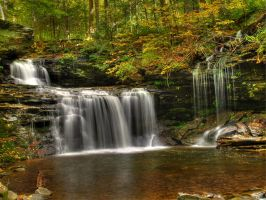 Ricketts Glen State Park 38 by Dracoart-Stock