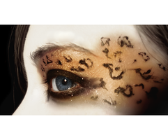 Leopard Eye Makeup: Macro by TheUsed-Genuine-Fake