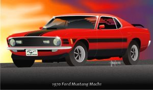 1970 Ford Mustang Mach 1 by mojearpe