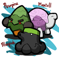 Draw This Again: Bloopink, Mentell and Powpine by tk36477