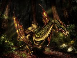 forest dragon1 by saramira
