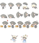Holy Rome Shimeji Frames (part 1) by Blissyanya