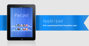 Beautiful Apple iPad PSD for Free Download by cssauthor