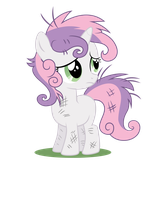 Sweetie Belle with disheveled mane by Macs44