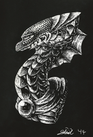 Dragon Scratchboard Practice by 16Shards