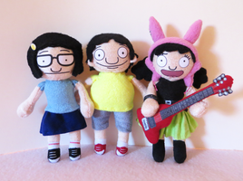 Tina, Gene and Louise Belcher - Bob's Burgers by Squisherific