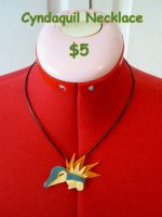 Cyndaquil Necklace by CynicalSniper