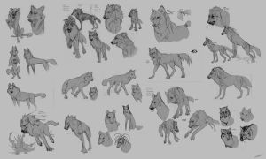 Sketches part 1 - Canine by Autlaw