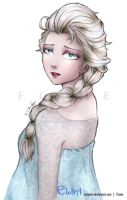 Elsa colored by RueYumi