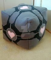 Weighted Companion Cube Plush by Kat326